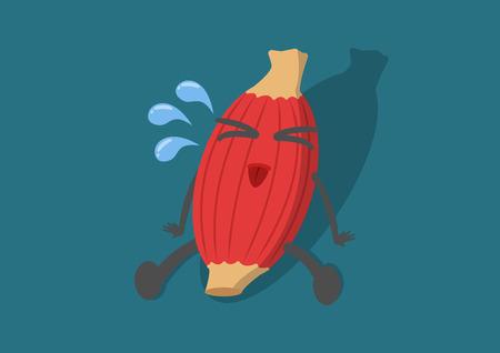 Vektor-Cartoon menschlichen Muskel sein tired.Muscle Schwäche bis hart use.Used Beschreibung Muskel. Oder Bewegung, Fitness