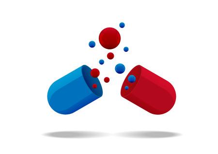a tablet blister: Pills vitamin icon of medication pills and medicament flat vector icon. Colored vitamin medical drugs cartoon flat vector illustration. Illustration