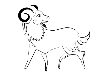 rite: The painting goat one of the 12 zodiac based on the belief of the people of Asia. This is the year that represents destiny and lifestyle.