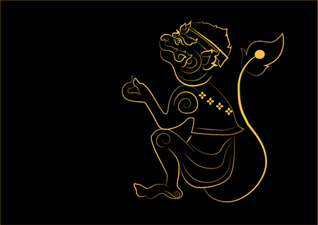 The painting monkey one of the 12 zodiac based on the belief of the people of Asia. This is the year that represents destiny and lifestyle.