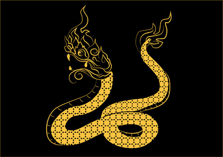 year of the snake: The painting big sneck one of the 12 zodiac based on the belief of the people of Asia. This is the year that represents destiny and lifestyle. Illustration