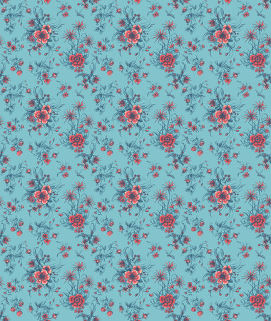 coil spring: abstract rose flowers seamless
