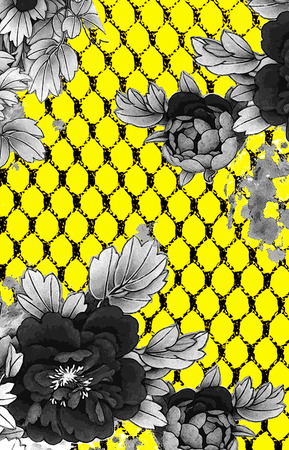 flowers and line backround