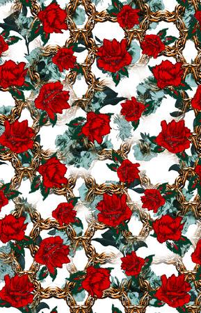 flowers print Stok Fotoğraf