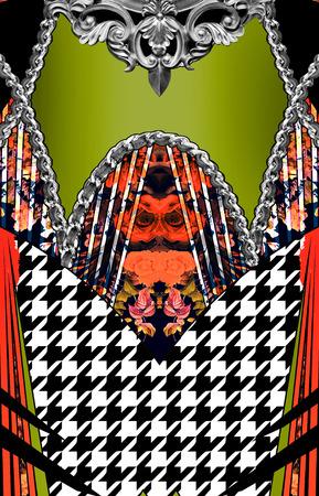 dress pattern Stok Fotoğraf
