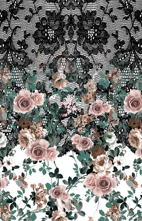 flowers and lace backround