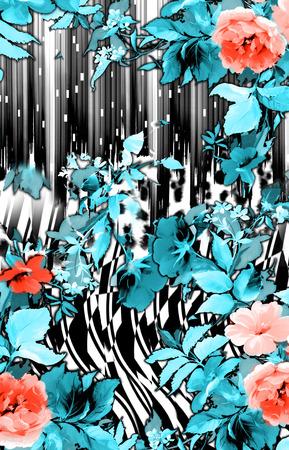 abstracte backround en bloem Stockfoto