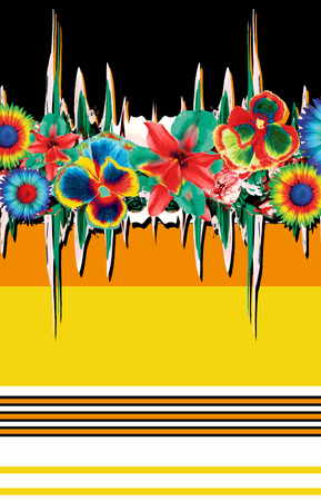 abstrack flowers backround
