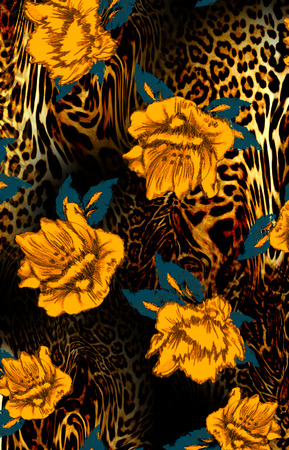 leopard and flower 4