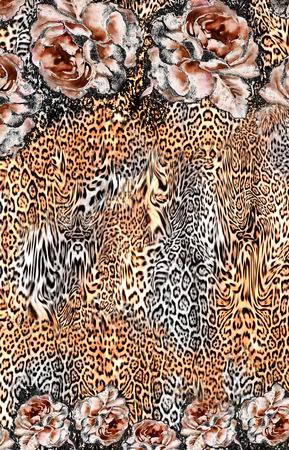 flowers leopard print