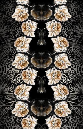 mirror flower bacround Stok Fotoğraf