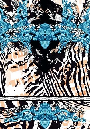 zebra print flower bacround