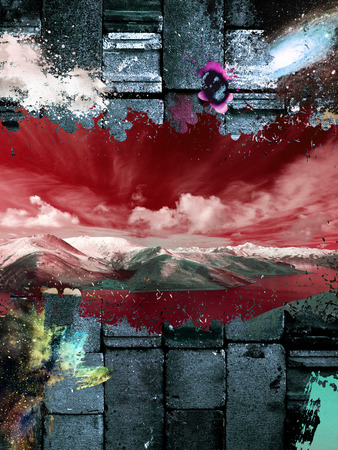 backround: colorful abstract red sky backround Stock Photo