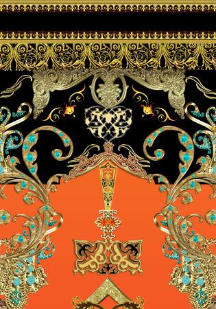 etnic: abstract dress print Stock Photo