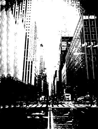 black new york city Illustration