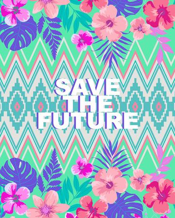 backround: save the future flower backround Stock Photo
