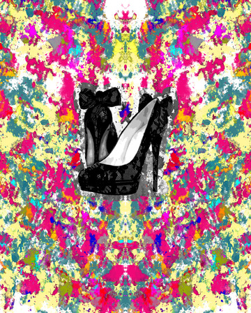abstract backround: abstract backround and shoes