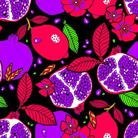 tropical fruits: Tropical fruits garden pattern.
