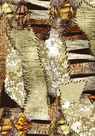 submerged: Abstract flower pattern leopard skin animal skin