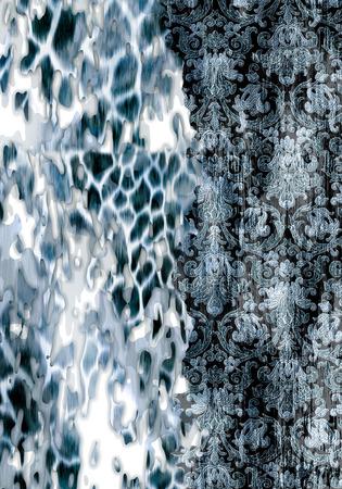 Abstract flower pattern leopard skin animal skin