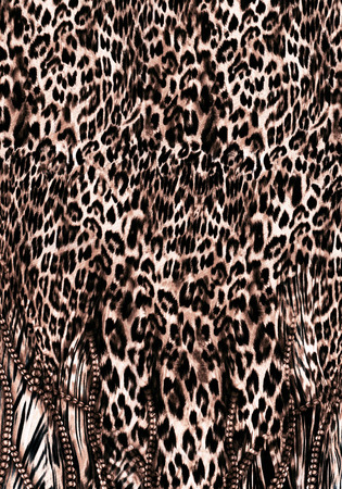 wastage: Abstract flower pattern leopard skin animal skin