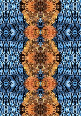 wastage: Abstract flower pattern leopard skin animal skin