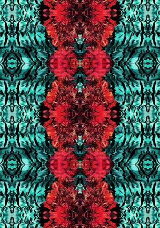 animal print: Resumen patrón de flores de piel de animal de piel de leopardo