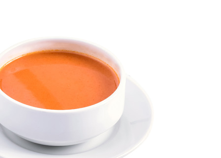 sauce in bowl on white background Stock Photo