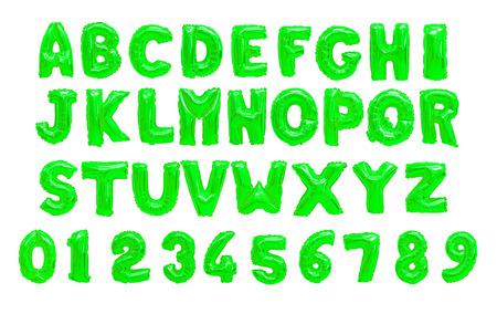 English alphabet green Stock Photo