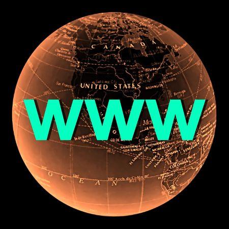 worldwideweb: globe internet world-wide-web Stock Photo