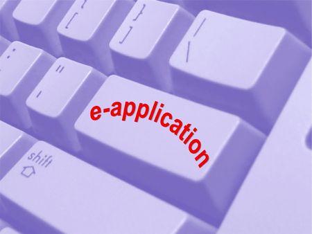 worldwideweb: Internet e-application Stock Photo