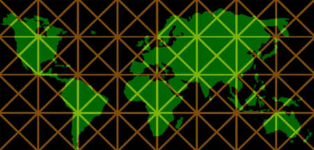 subdivided: world map on grid