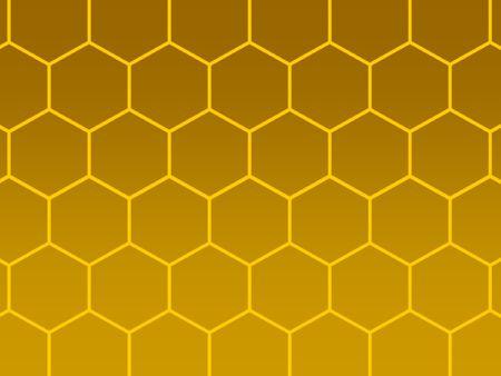 cohesive: bees honeycomb golden background