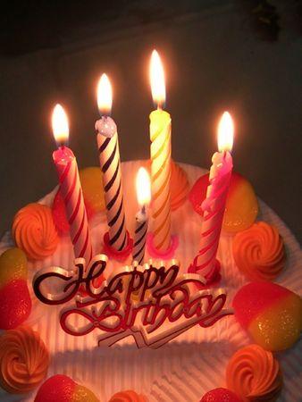 lightup: birthday cake and celebration Stock Photo