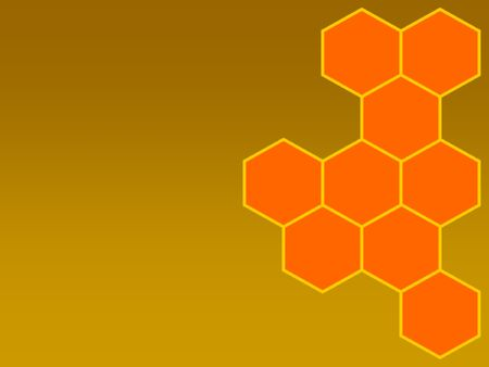 cohesive: bees honeycomb right Stock Photo