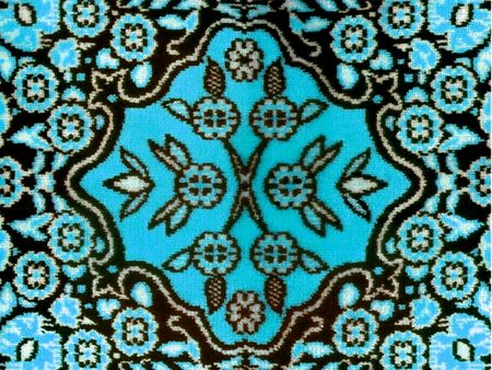 classic fabric rug floral motif photo