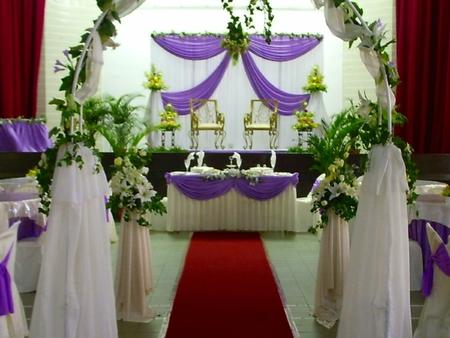 solemnize: traditional wedding ceremony Stock Photo