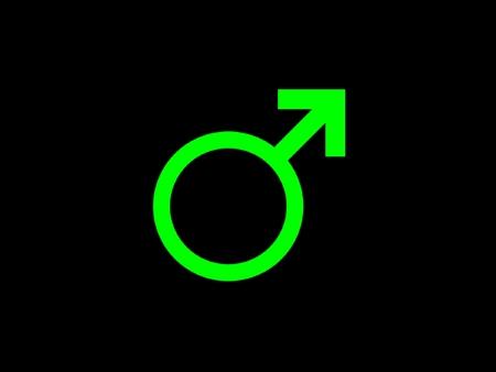 símbolo género masculino  Foto de archivo - 1600540
