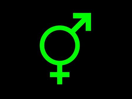 Symbol m�nnlich weiblich Geschlecht  Stockfoto - 1694147