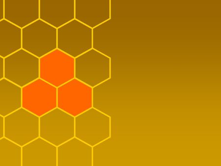cohesive: bees honeycombs and focus left