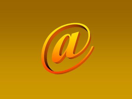 worldwideweb: email symbol Stock Photo