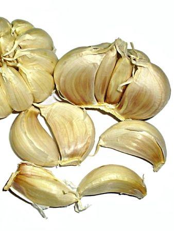 lipoprotein: garlic on white closeup
