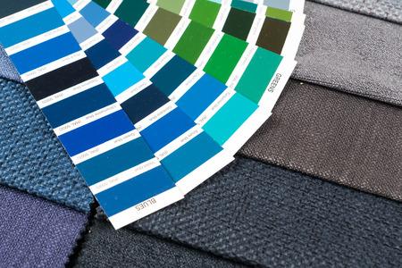 pantone: colorful fabric samples with pantone