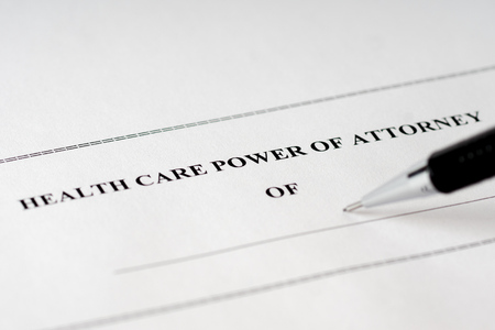 health care power of attorney form with black pencil