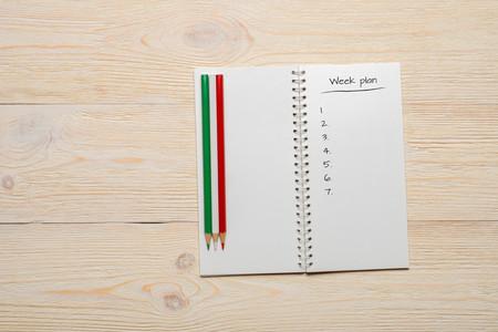 numeric: week plan numeric list