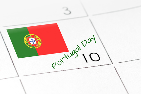 sovereignty: Portugal Day on calendar 10 june