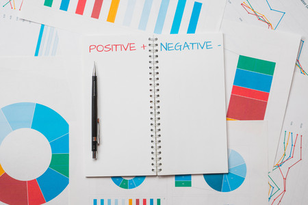 positive and negative: positive negative concept abstract background