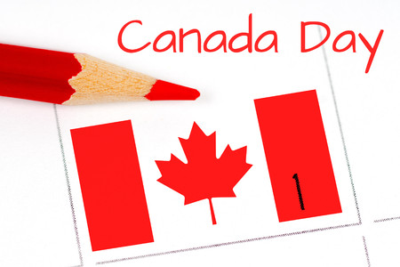 exultation: canada independence day calendar and pencil