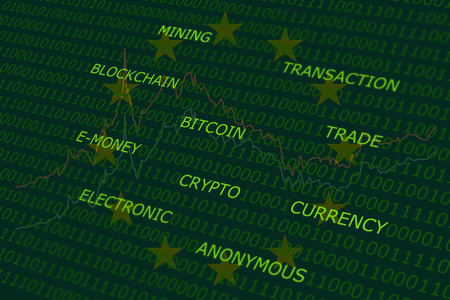 volatility: bitcoin terms cloud green abstract background