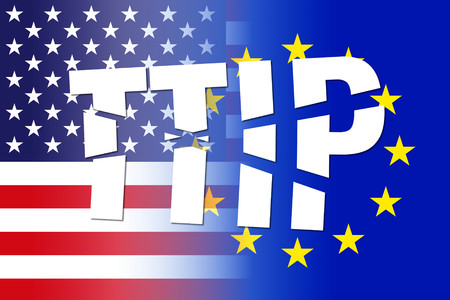 white letters: usa eu flags, ttip broken white letters